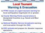 local tsunami warning evacuation