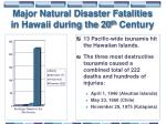 major natural disaster fatalities in hawaii during the 20 th century