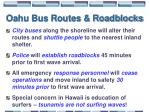 oahu bus routes roadblocks