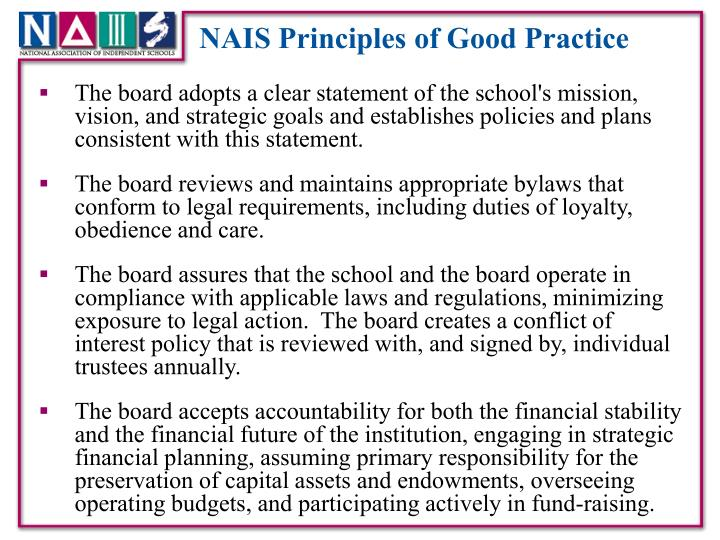 NAIS Principles of Good Practice