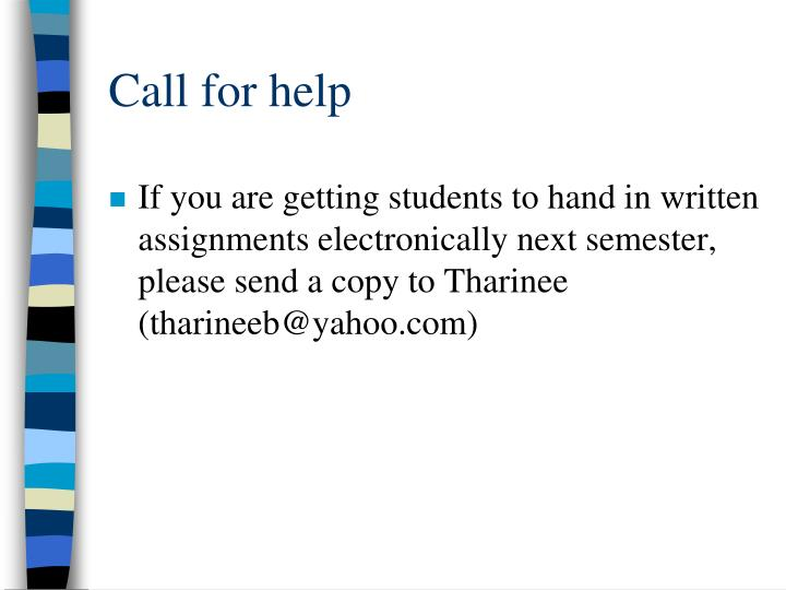 Call for help