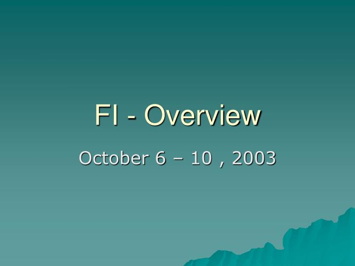 fi overview n.