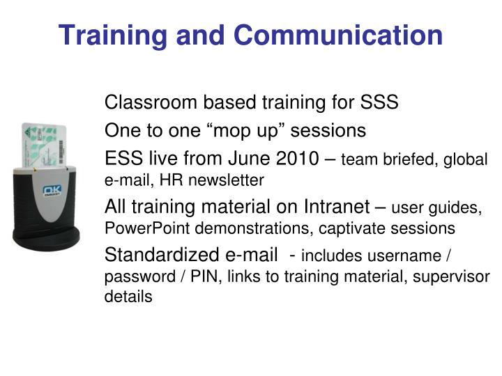 Training and Communication