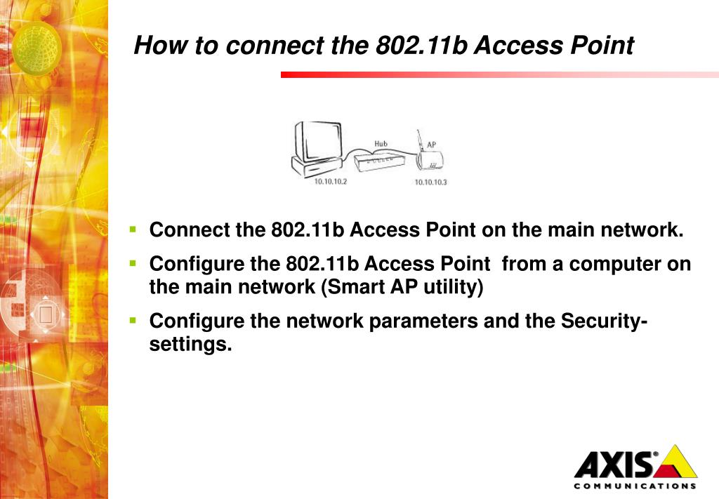 PPT - 802 11b Access Point and Device Point Technical training