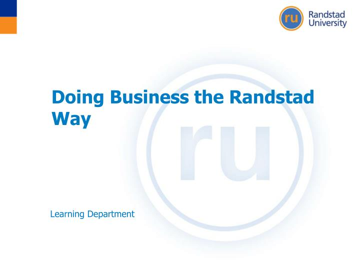 Doing business the randstad way