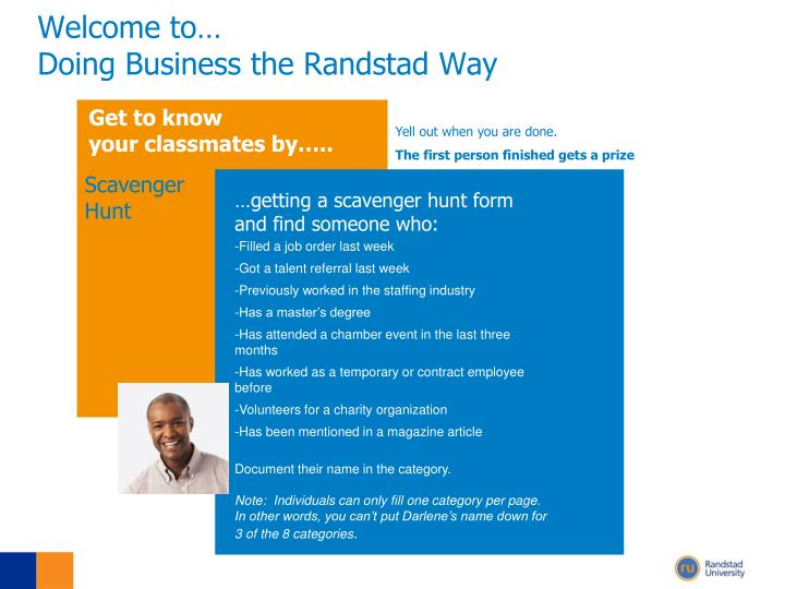Welcome to doing business the randstad way