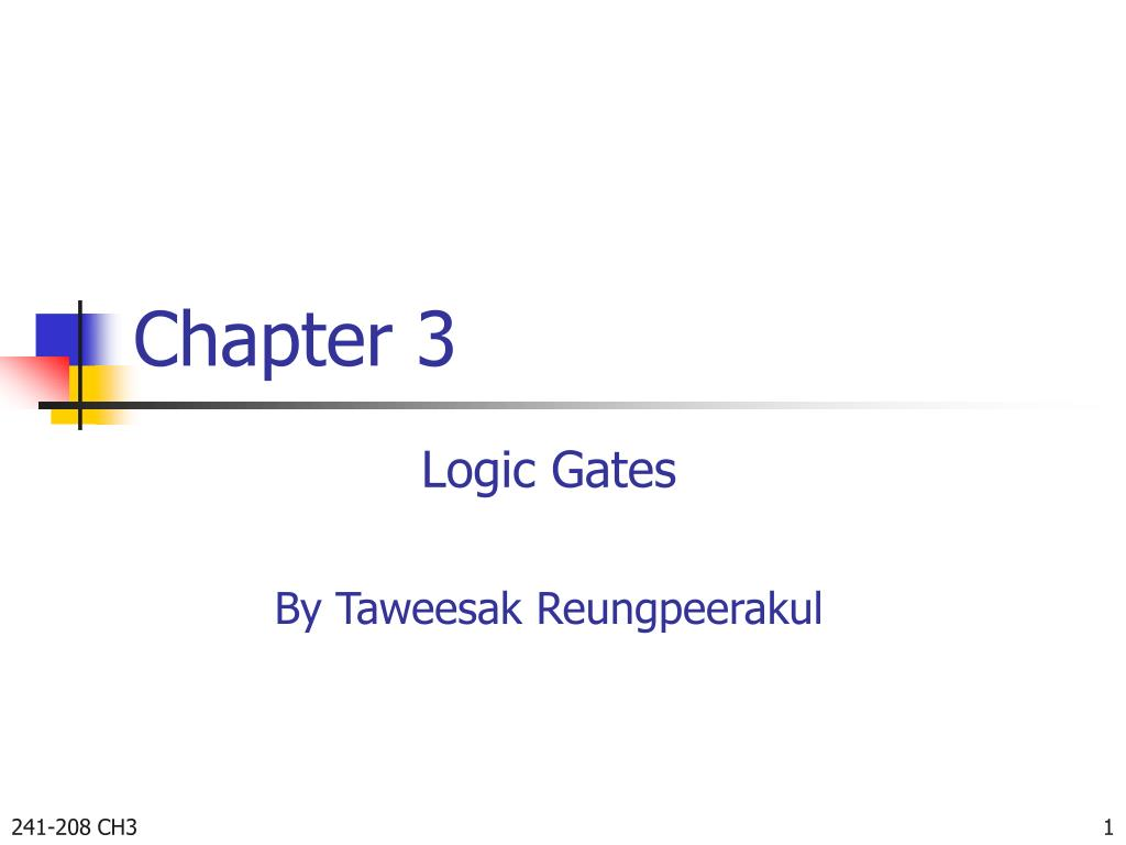 Ppt Chapter 3 Powerpoint Presentation Id4565360 Logic Diagram Of Xnor Gate N