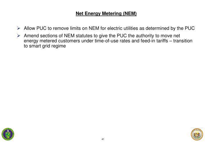 Net Energy Metering (NEM)