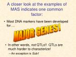 a closer look at the examples of mas indicates one common factor