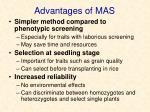 advantages of mas