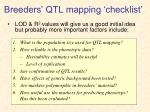 breeders qtl mapping checklist
