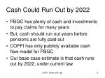 cash could run out by 2022