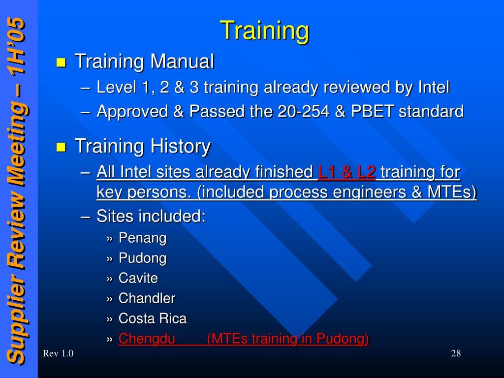 PPT - Q2 2005 Intel Supplier Review Meeting April 26-28