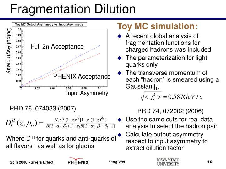 Fragmentation Dilution