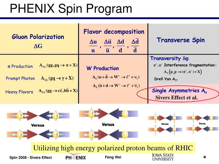 PHENIX Spin Program