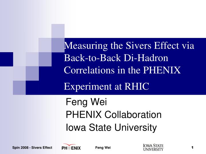 Measuring the Sivers Effect via Back-to-Back Di-Hadron Correlations in the PHENIX