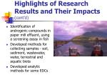 highlights of research results and their impacts cont d1