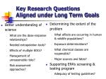 key research questions aligned under long term goals