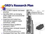 ord s research plan