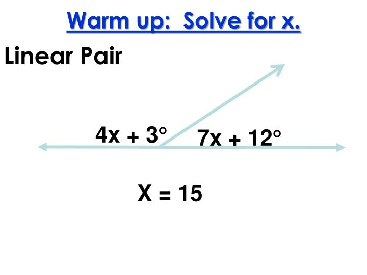 warm up solve for x n.