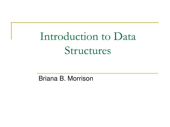introduction to data structures n.