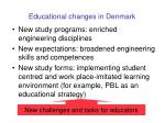 educational changes in denmark