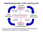 experiential learning kolb s learning cycle