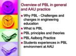 overview of pbl in general and aau practice