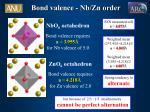 bond valence nb zn order