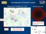 development of atomistic model