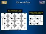 planar defects