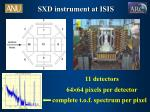 sxd instrument at isis