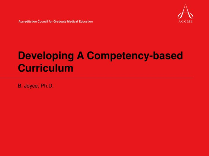 ppt - developing a competency-based curriculum powerpoint presentation