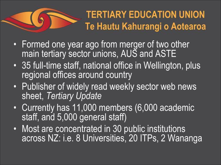 Tertiary education union te hautu kahurangi o aotearoa