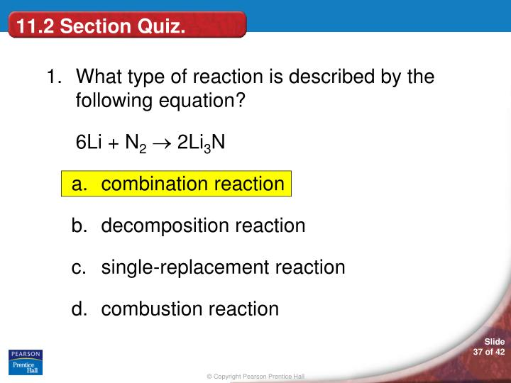 11.2 Section Quiz.