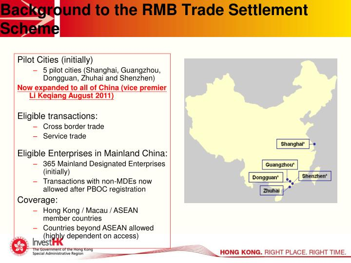 Background to the RMB Trade Settlement Scheme