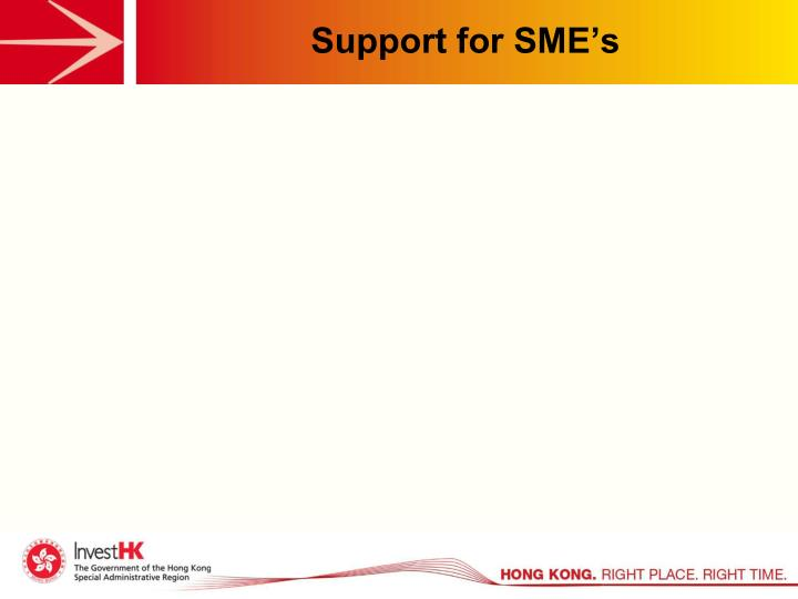 Support for SME's