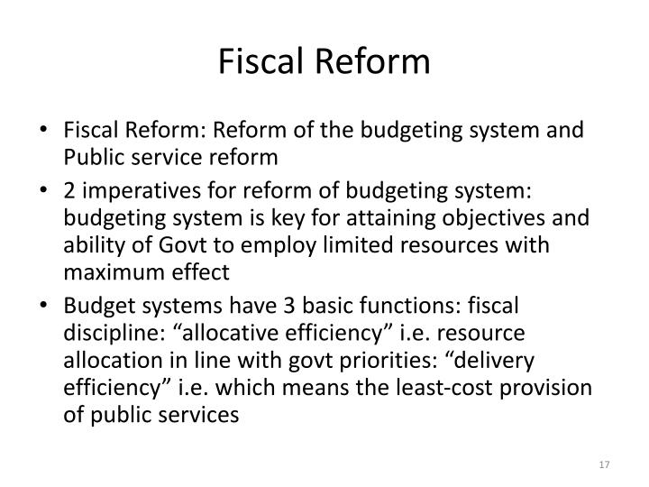 Fiscal Reform