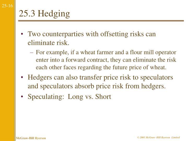 25.3 Hedging