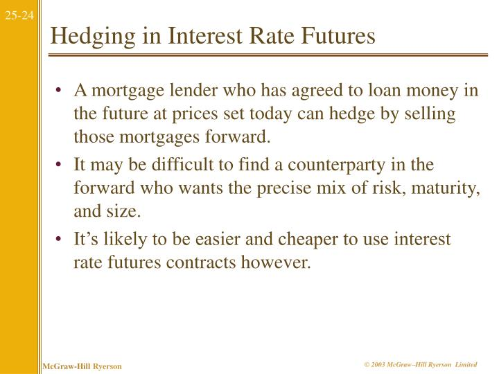 Hedging in Interest Rate Futures