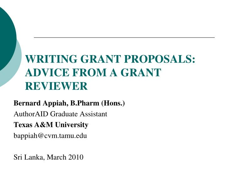 writing grant proposals advice from a grant reviewer n.