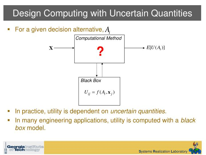Design computing with uncertain quantities