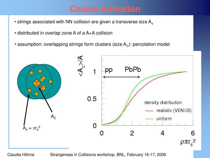 Cluster formation