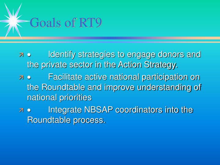 Goals of RT9