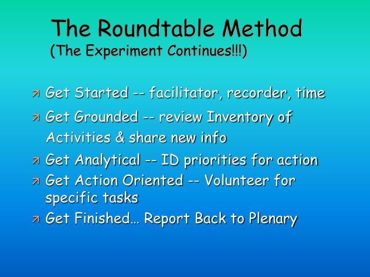 The Roundtable Method