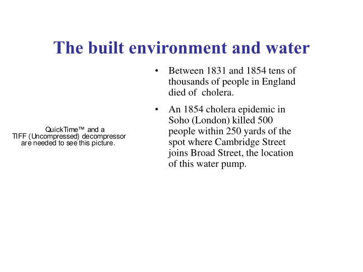 the built environment and water n.