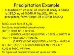 precipitation example