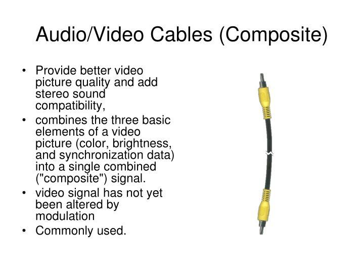 Audio/Video Cables (Composite)