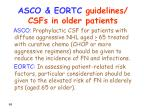 asco eortc guidelines csfs in older patients