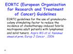 eortc european organization for research and treatment of cancer guidelines